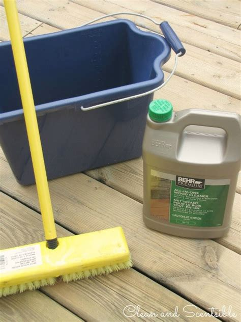 clean  wood deck clean  scentsible