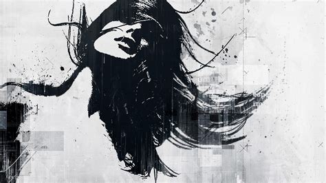wallpapers graffiti blanco y negro women abstract black sketches alex cherry wallpaper