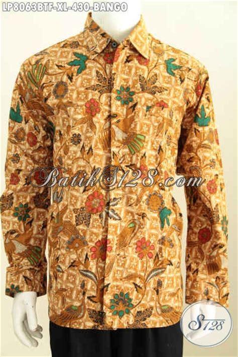 desain baju batik lelaki desain baju batik solo halus mewah berkelas lengan panjang
