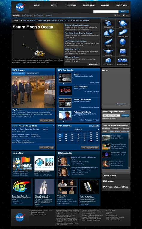 free online home page design file nasa website homepage jpg wikimedia commons