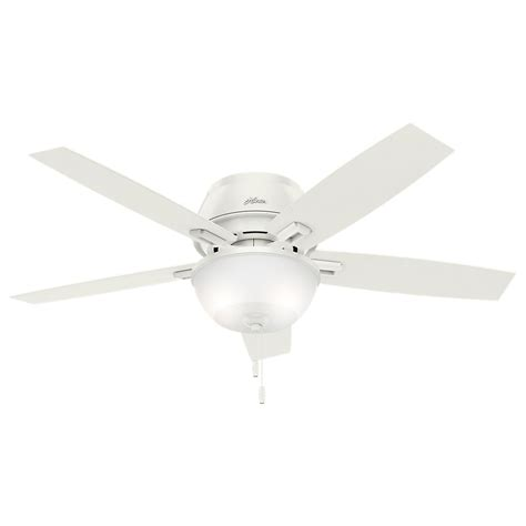 hunter duncan ceiling fan hunter duncan 52 in led indoor fresh white flush mount