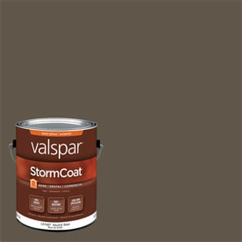 shop valspar stormcoat harvest brown semi gloss acrylic exterior paint actual net contents 116