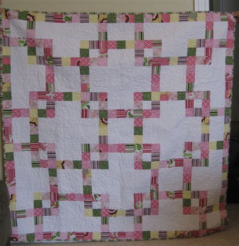 Chain Baby Quilt by Baby Chain Mail Jelly Roll Quilt Squares And Triangles