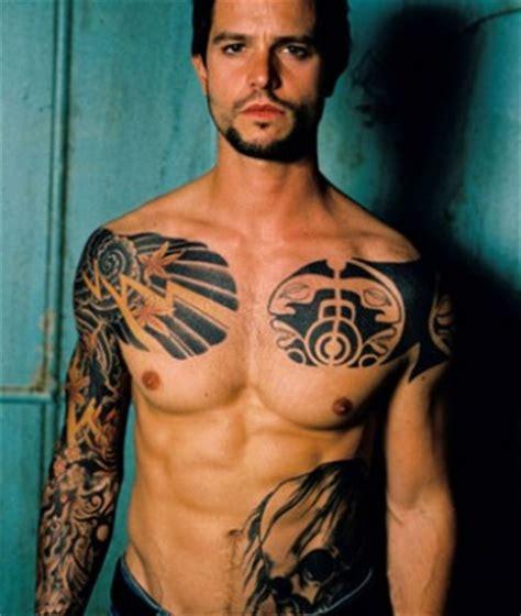 celebrity tattoos male jason behr tattoos