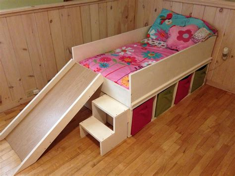 slide bed diy toddler bed with slide and toy storage diy toddler