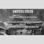 sniper's creed ...