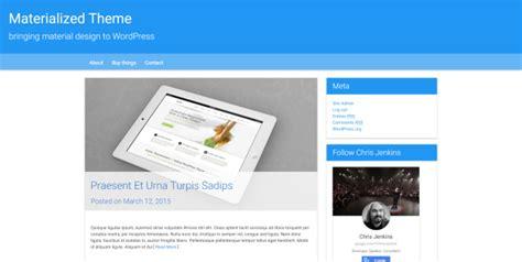 wordpress themes material design free wordpress materialized creating a material design theme