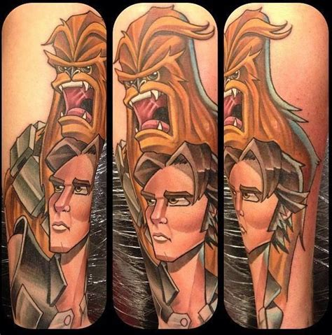 han solo tattoo 1000 ideas about han and chewbacca on
