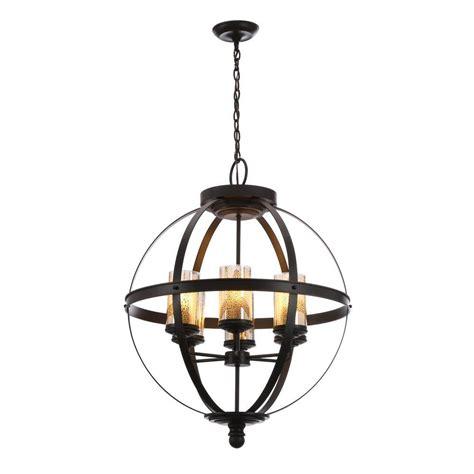 sea gull lighting chandelier sfera 6 light autumn bronze chandelier with mercury glass