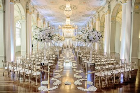 Home And Decor Atlanta by White Silver Amp Gold Wedding At The Biltmore Ballrooms In