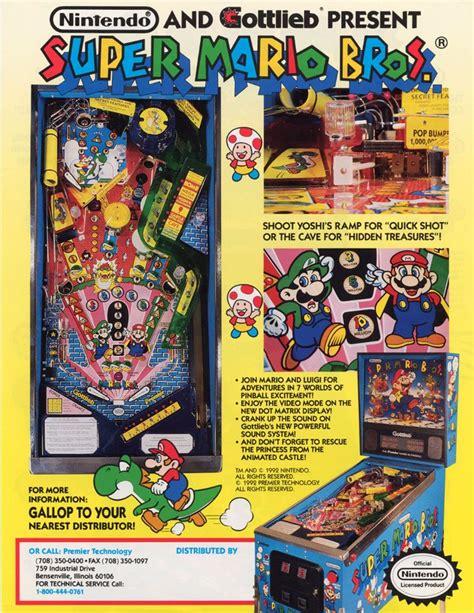 mario bros pinball flyer arcade museum