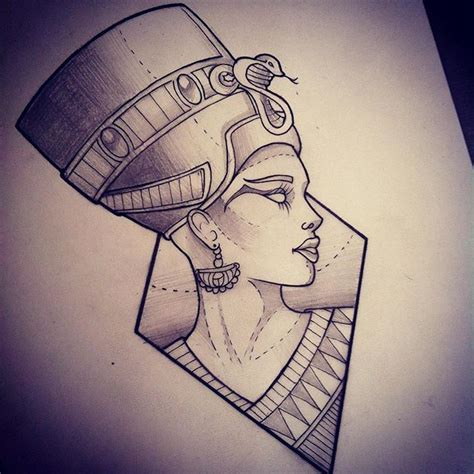 egyptian queen tattoos designs best 25 nefertiti ideas on