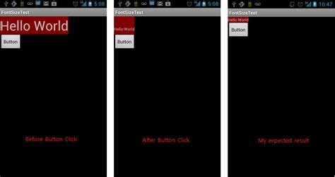 android textview layout height programmatically android textview height doesn t change after shrinking the