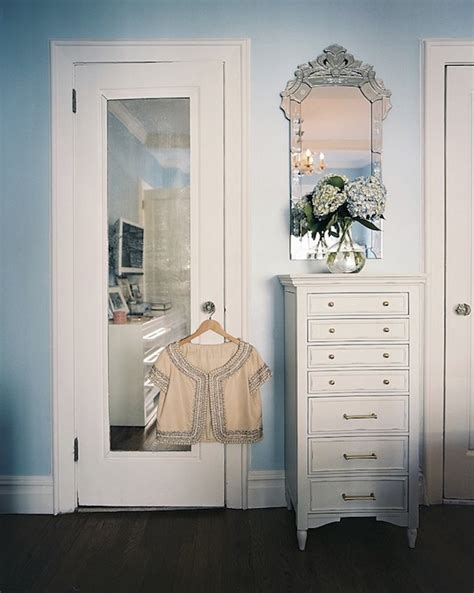 Mirrored Door Contemporary Closet Lonny Magazine Mirror Door Closet