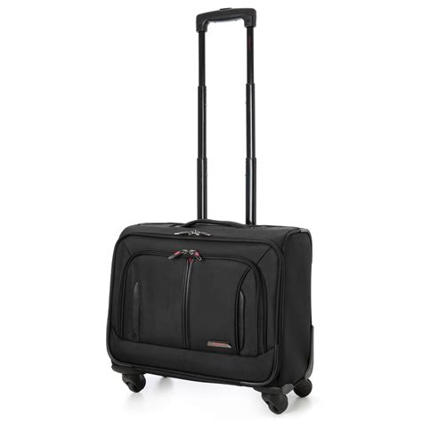 cabin luggage bags aerolite 18 4 wheel spinner executive mobile office