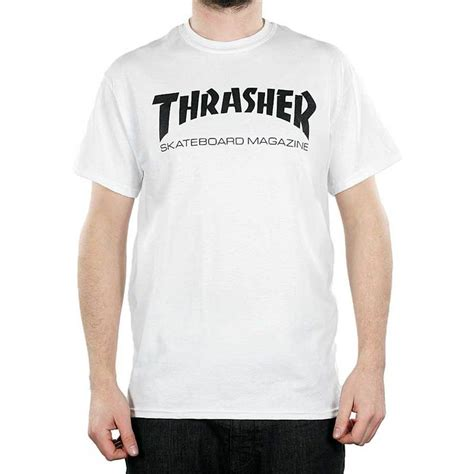 Kaos Tshirt Thrasher Skate Premium thrasher magazine maglogo t shirt white and black new skate and destroy