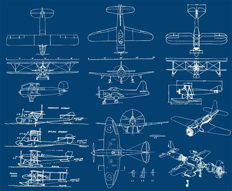 free blueprint airplanes blueprint vector art graphics freevector com