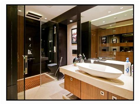 modern bathrooms in india master bathroom with wash basin cabinet design by