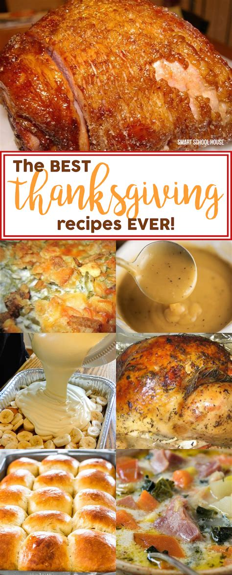 the best thanksgiving recipes ever smart school house