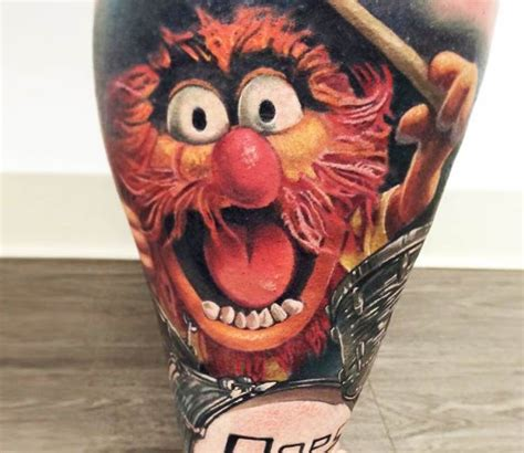 muppet tattoo animal from muppets by rix best tattoos
