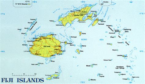 fiji islands map fiji map of islands