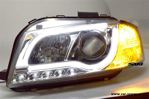 led len kaufen sw ltube headlights audi a3 8p 03 08 led lighttube