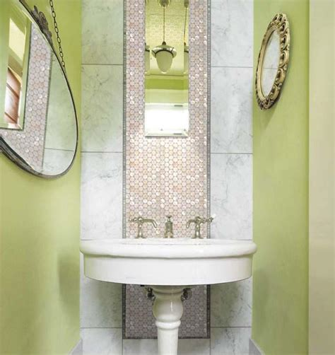mirror tiles for bathroom walls mother of pearl tiles penny round bathroom wall mirror