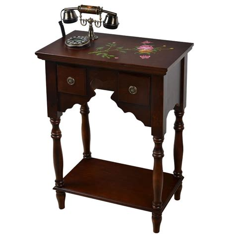 china environmental home decor holding solid wood picture china wood craft telephone table luxury home decor