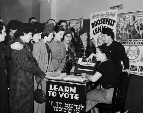 Women learn to vote