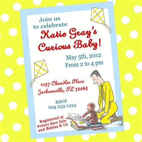 Curious George Baby Shower Invitations by Pin By Tommie Lou Judson On Lara S Shower