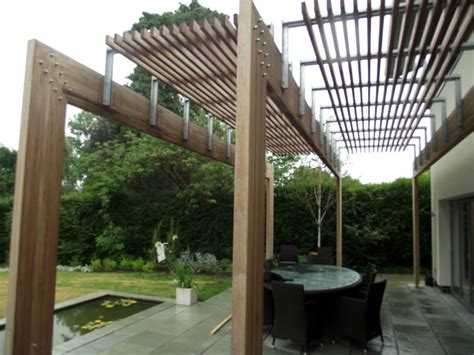 contemporary pergola wooden garden pergolas gazebos essex uk the garden