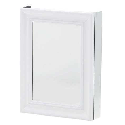 White Framed Recessed Medicine Cabinet by Pegasus 20 In W X 26 In H Framed Recessed Or Surface