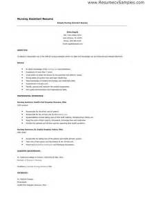 Cna Resume Sle by Resume For Certified Assistant Thebridgesummit Co