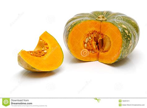 how to cut a pumpkin for cut pumpkin isolated stock image image 16291911