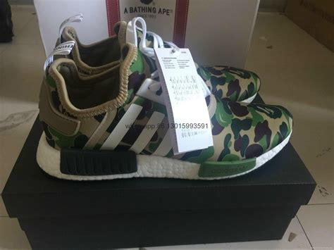 authentic bape x adidas nmd olive original adidas shoes wholesale fashion 2017 adidas china