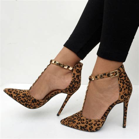 leopard high heels shoes heels leopard heels high heels pointy heels