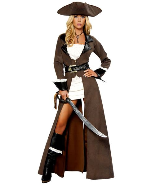 deluxe pirate 5pcs captain costume wholesale
