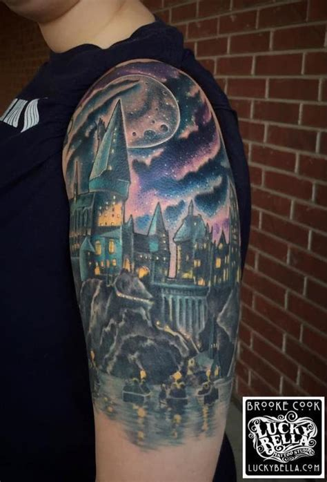 hogwarts castle tattoo hogwarts castle by cook tattoos