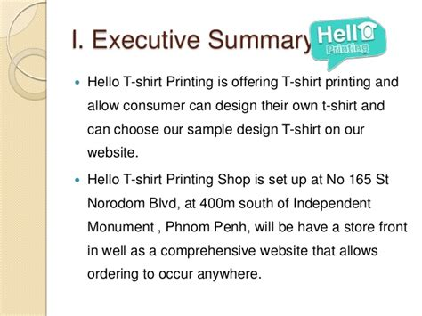 t shirt company business plan template sle marketing plan
