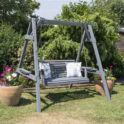 sicily swing rowlinson palermo garden swing seat with contemporary grey