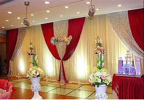 Red Home Decor Ideas wholesale and retail 3x6m white and red wedding backdrop