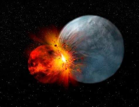 wann entstand die erde mond geburt nach gigantischer planeten kollision