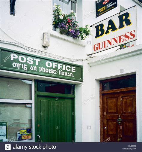 Post Office Bar by Post Office Bar Sign Leenane Connemara County Galway