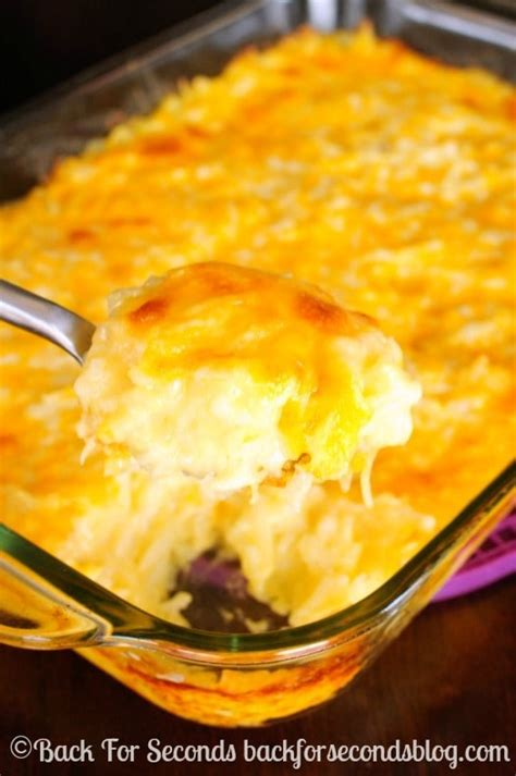 cheesy hash brown casserole back for seconds