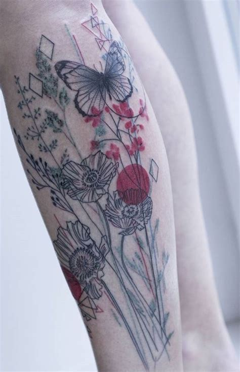 absolutely gorgeous wildflower tattoos amazing tattoo ideas