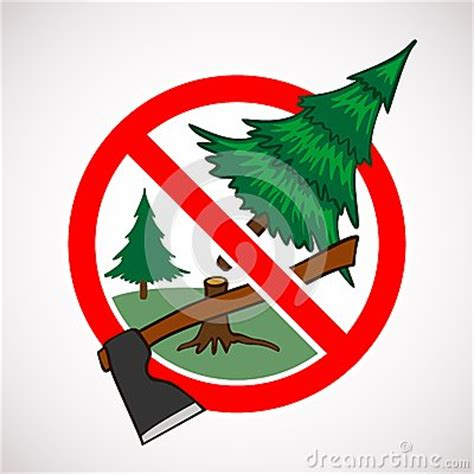 how to stop my live christmas tree from lening stop cutting live trees for sign stock photos image 35203293