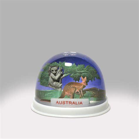 australia roo snow globe global shakeup snowdomes com