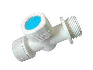 push fit 15mm washing machine valve tap