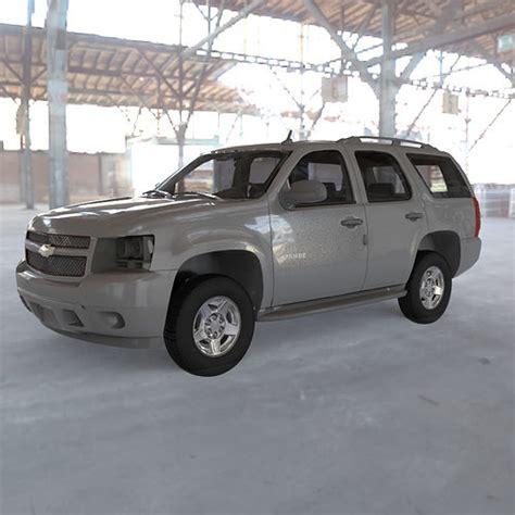 Chevrolet 2007 Model chevrolet tahoe 2007 3d model obj cgtrader
