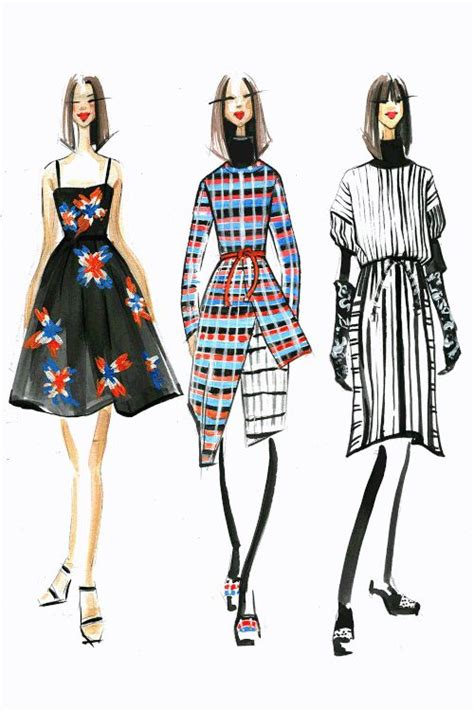 design clothes in illustrator fashion illustration for tanya taylor by fashion